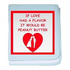peanut butter lover baby blanket