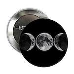 Triple Moon Goddess Button