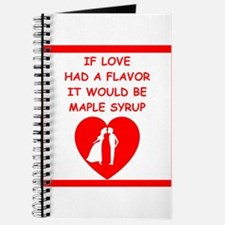 maple syrup Journal