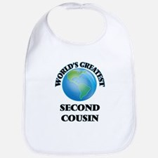 World's Greatest Second Cousin Bib