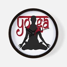 Yoga Lotus Pose  Wall Clock