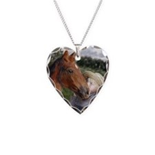 Amish Boy and Horse Necklace