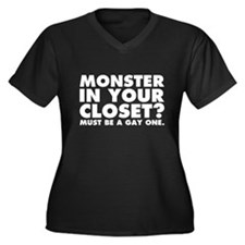 Monster in Y Women's Plus Size V-Neck Dark T-Shirt