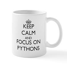 Keep Calm and focus on Pythons Mugs