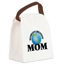 World's Greatest Mom Canvas Lunch Bag