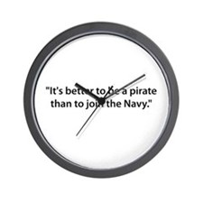 Be a Pirate Wall Clock