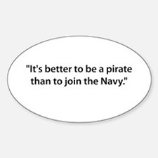 Be a Pirate Oval Decal