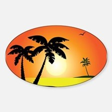 Tropical Sunset Stickers