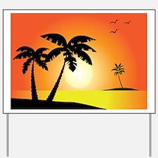 Tropical Sunset Yard Sign