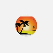 Tropical Sunset Mini Button (10 pack)