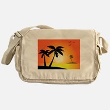 Tropical Sunset Messenger Bag