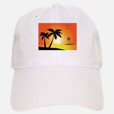 Tropical Sunset Baseball Baseball Baseball Cap