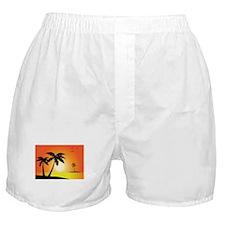 Tropical Sunset Boxer Shorts