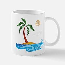 Palm Tree Cartoon Mugs