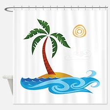 Palm Tree Cartoon Shower Curtain
