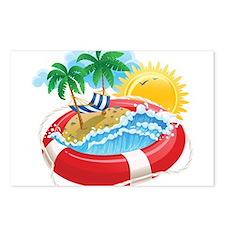 Beach Pool Postcards (Package of 8)