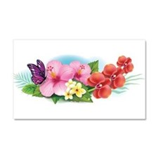 Tropical Banner Car Magnet 20 x 12