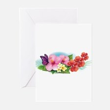 Tropical Banner Greeting Cards