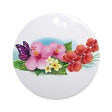 Tropical Banner Ornament (Round)