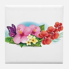 Tropical Banner Tile Coaster