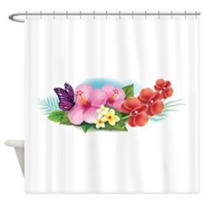 Tropical Banner Shower Curtain
