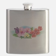 Tropical Banner Flask