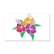 Trio of Hibiscus Car Magnet 20 x 12