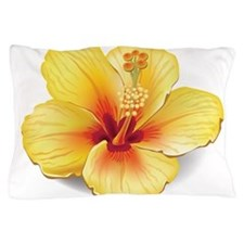 Yellow Hibiscus Pillow Case
