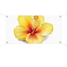 Yellow Hibiscus Banner