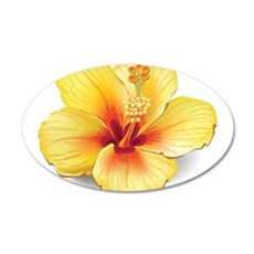 Yellow Hibiscus Wall Decal