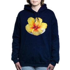 Yellow Hibiscus Women's Hooded Sweatshirt