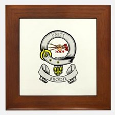 BRODIE Coat of Arms Framed Tile