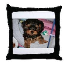 Yorkie Puppy Throw Pillow