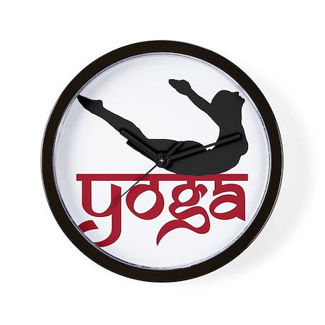 Yoga Full Locust Pose Wall Clock