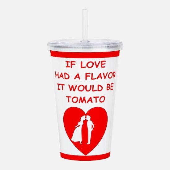 tomato Acrylic Double-wall Tumbler