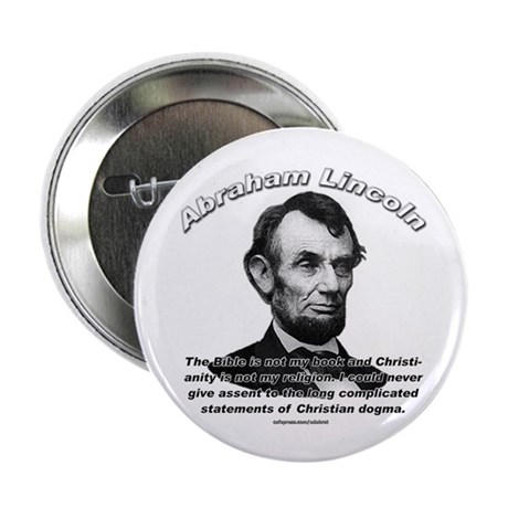 """Abraham Lincoln 02 2.25"""" Button (100 pack)"""