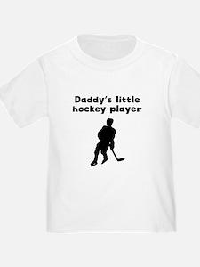 Daddys Little Hockey Player T-Shirt
