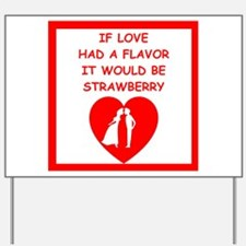 strawberry Yard Sign