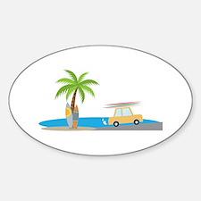 Surfer Beach Decal
