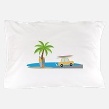 Surfer Beach Pillow Case