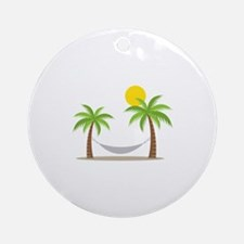 Hammock & Palms Ornament (Round)