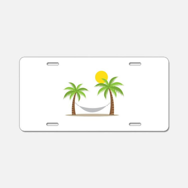 Hammock & Palms Aluminum License Plate