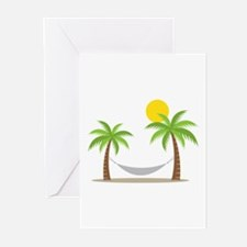 Hammock & Palms Greeting Cards