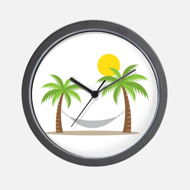 Hammock & Palms Wall Clock