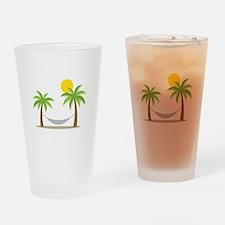 Hammock & Palms Drinking Glass