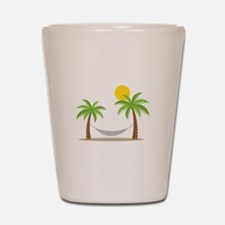 Hammock & Palms Shot Glass
