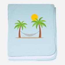 Hammock & Palms baby blanket