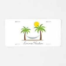 Summer Vacation Aluminum License Plate