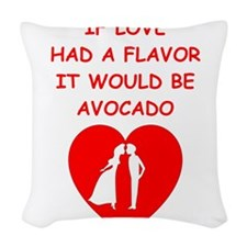 avocado Woven Throw Pillow