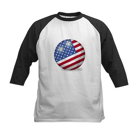 American Flag Soccer Ball (PP) Kids Baseball Jerse
